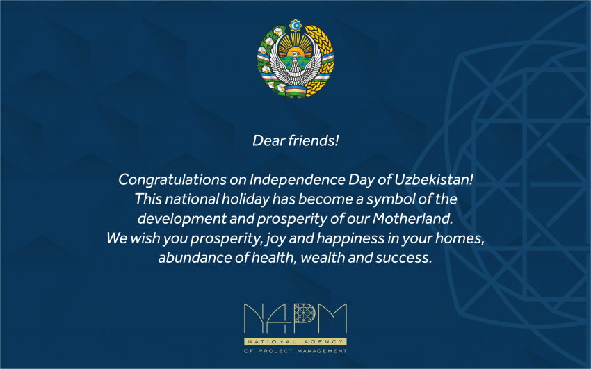 Congratulations on Independence Day of Uzbekistan!